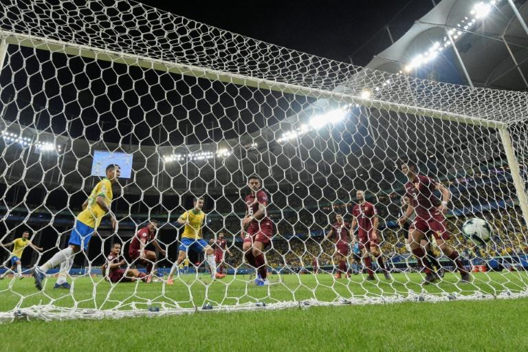 Brazil saw three goals disallowed in Salvador. AFP