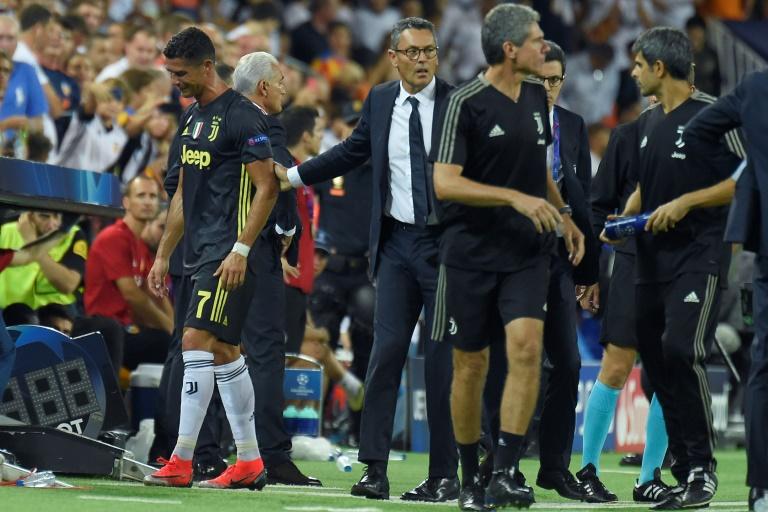 Ronaldo saw red against Valencia. AFP
