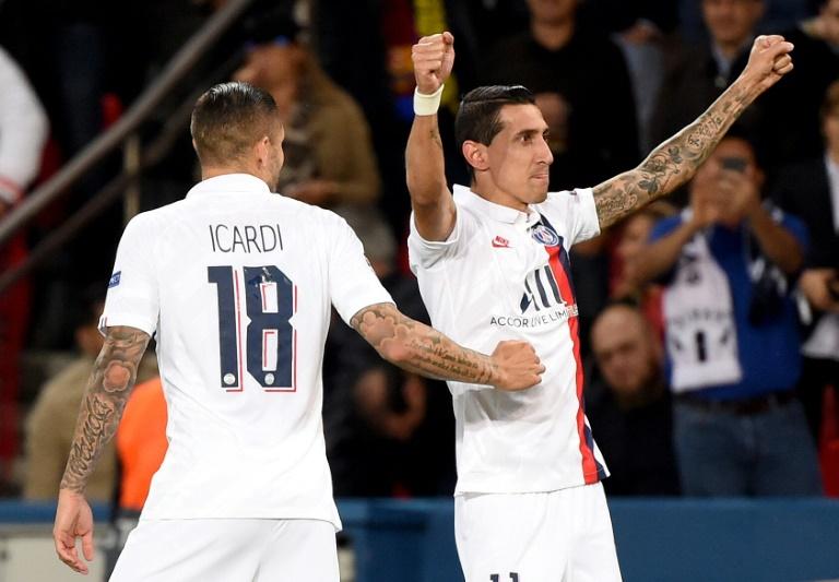 Di Maria and PSG's midifelders provided a brilliant performance. AFP